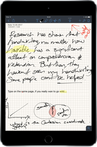 Notability's audio capture feature makes it an ideal choice for lecture notes
