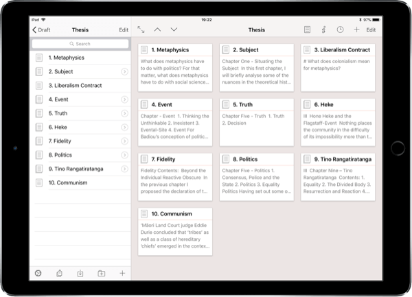 Best iOS Writing Apps Thesis