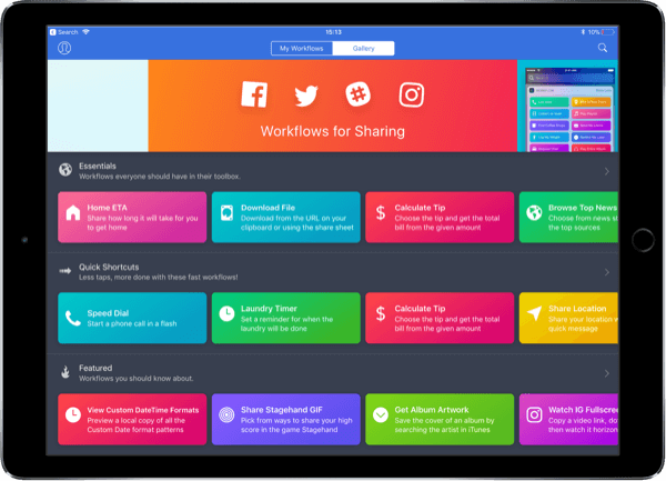 Workflow is the singular automation utility for iPhone and iPad