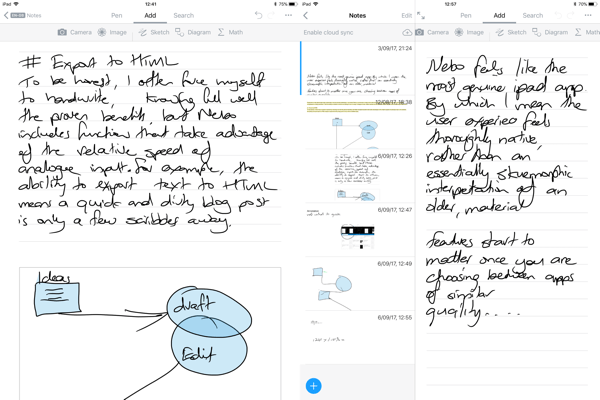 nebo handwriting recognition on ipad pro the appademic. Black Bedroom Furniture Sets. Home Design Ideas
