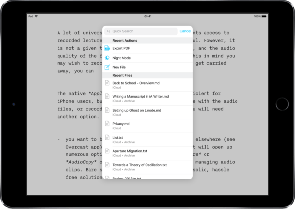 iOS Ulysses Alternative