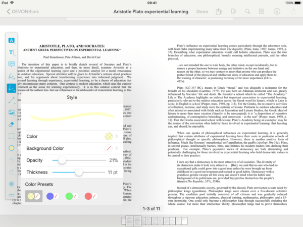 Advanced Data Management for iOS with DEVONthink » The Appademic