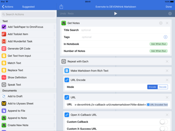 how migrate Evernote data to another iOS app
