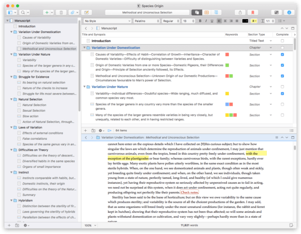 Best Mac Apps 2017 Scrivener 3